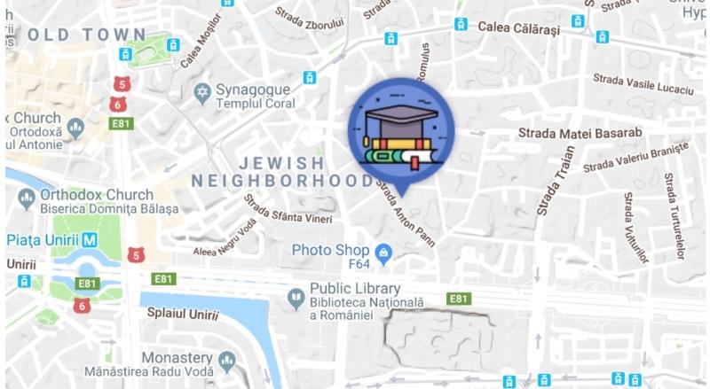 Localizarea pe harta Bucurestiului a centrului de limba germana - German Kulturhaus Bucuresti Sector 3 Strada Anton Pann 17A - Telefon: 0773973955